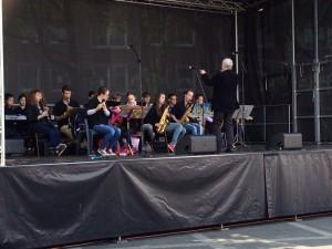 Die Big Band bei einem Auftritt im Mai 2014 in Oberhausen.